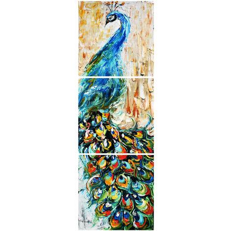 3 piezas pintura abstracta pintura al óleo pan arte moderno decoración de la pared lienzo sala de estar dormitorio casa sin marco LAVENTE