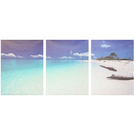 3 piezas pintura al óleo lienzo pintura junto al mar moderno lienzo casa mural