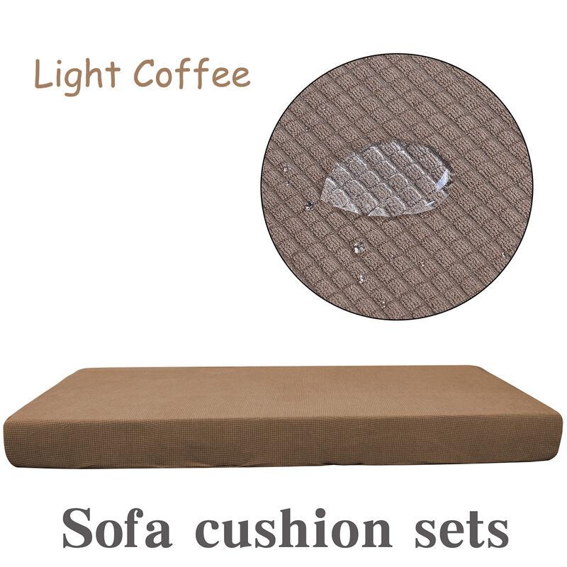 Manta - 3 places étanche épaississement extensible canapé siège housse de coussin canapé coussin tapis remplacement protecteur léger café café léger