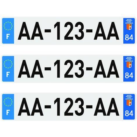 3 plaques d'immatriculation Plexi Premium homologuées SIV 520 x 110 mm - 62Pas-de-Calais