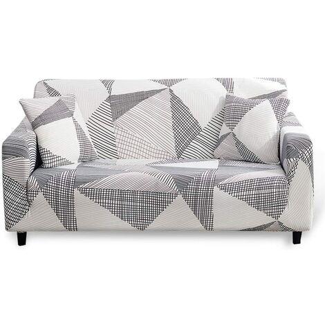 3 plazas, 1 pieza Funda de sofá elástica Funda de sofá estampada elástica, Fundas de sofá Protector de muebles Poliéster Spandex, Impreso