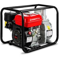 """3"""" Pompe à eau thermique (60.000 l/h, 6,5 CV Moteur à essence, Connection 3 Pouces, 30m Hauteur de refoulement, 7m Hauteur daspiration) Motopompe"""