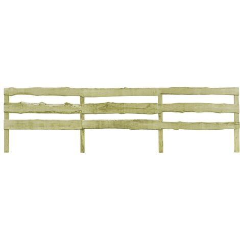 3-Rail Garden Fence FSC Impregnated Pinewood 120x510 cm