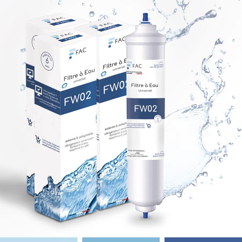 3 * Samsung DA29–10105J - Wpro USC100/1 - Filtre à eau universel externe pour réfrigérateur Américain - FAC