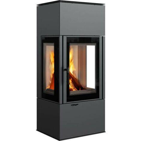 3-Scheiben-Kaminofen Kratki THOR 8 Kamin Ofen 8 kW Holzofen Nein Nein