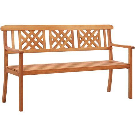 3-Seater Garden Bench 150 cm Solid Eucalyptus Wood