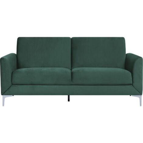 3 Seater Velvet Sofa Green FENES