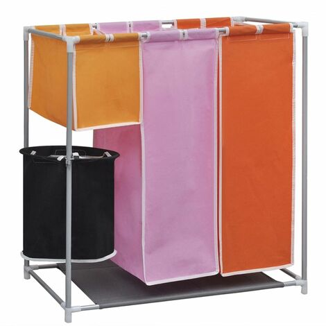 3-Section Laundry Sorter Hamper with a Washing Bin VDTD09037