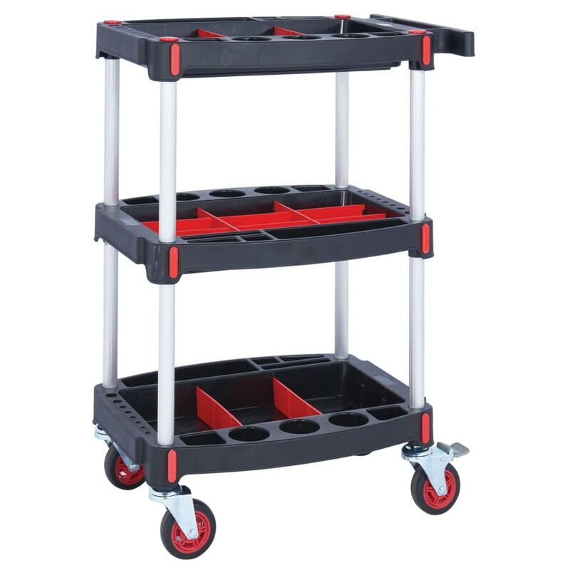 Image of 3 Shelf Tool Trolley - 1310X550X460MM - GPC