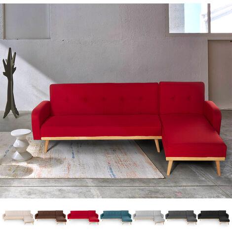 3-Sitzer Clic Clac Ecksofa aus Nordic Design Liegestoff Palmas