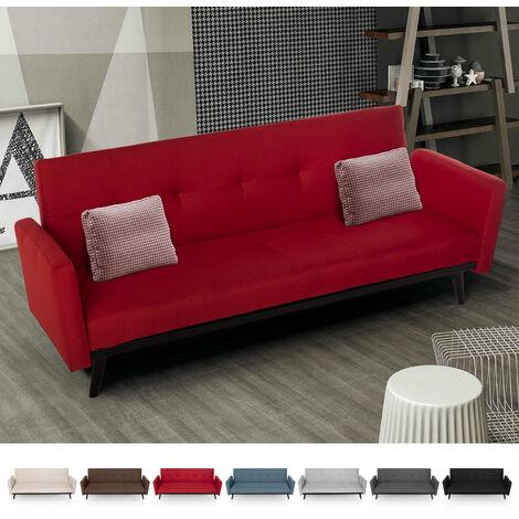 3-Sitzer-Schlafsofa in nordischem Design mit Clic-Clac-Stoff Tulum