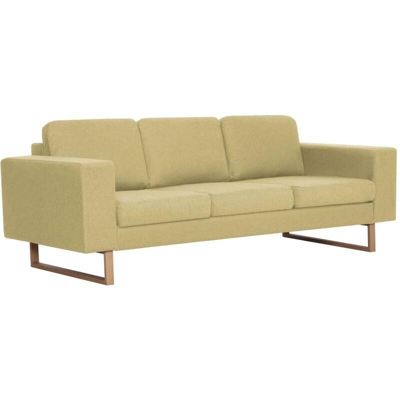 3-Sitzer-Sofa Stoff Grün