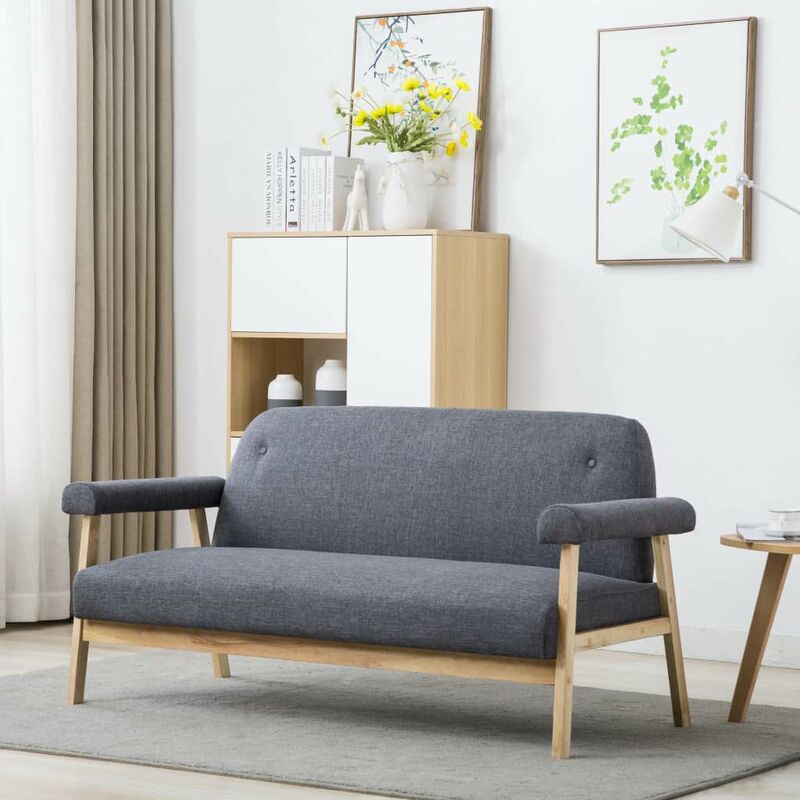 3-Sitzer-Sofa Stoff Dunkelgrau - ZQYRLAR