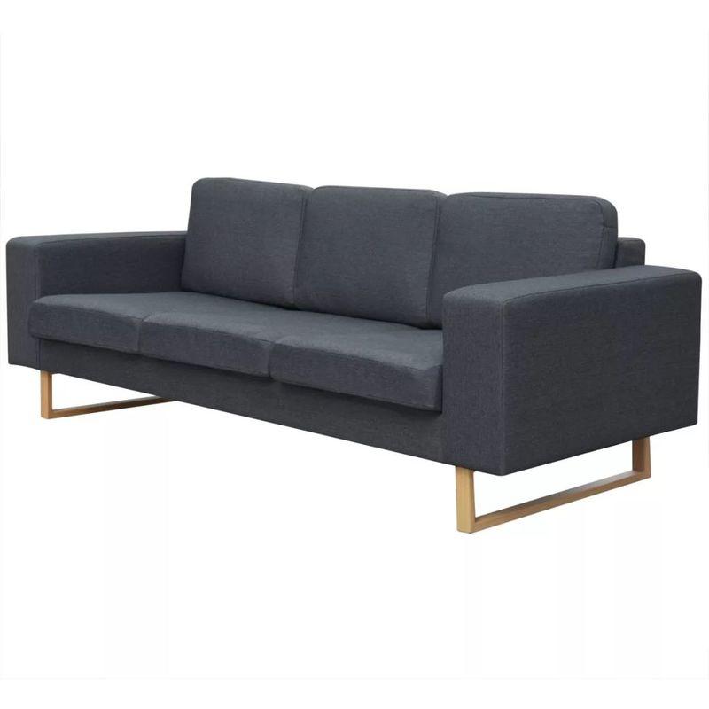 3-Sitzer Sofa Stoff Dunkelgrau - ASUPERMALL