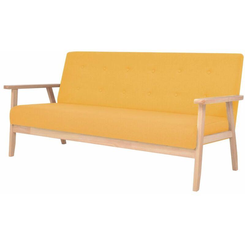 3-Sitzer Sofa Stoff Gelb - ZQYRLAR