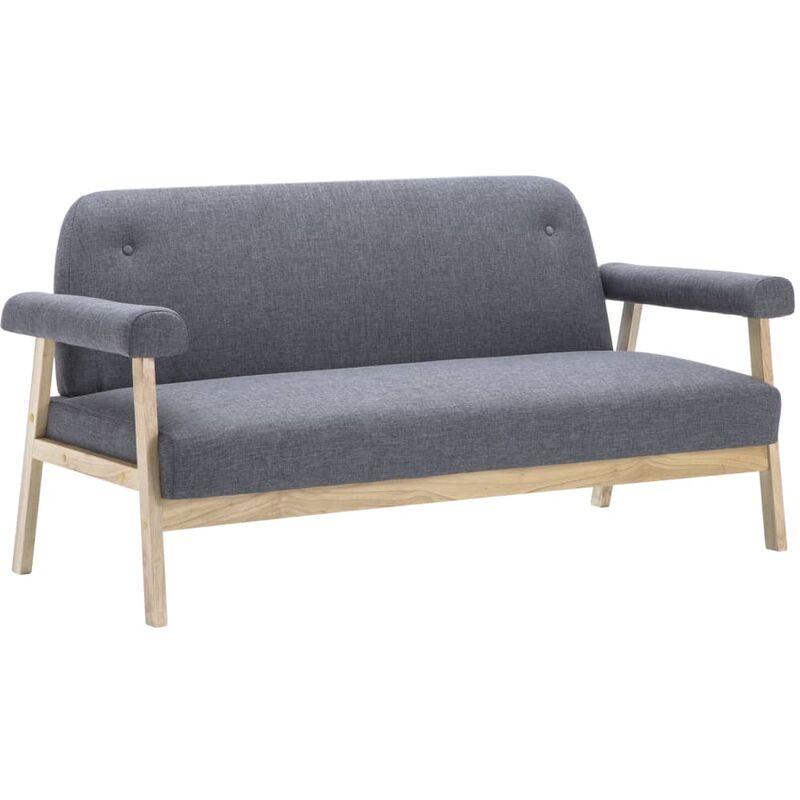 Sofa 3-Sitzer Dunkelgrau
