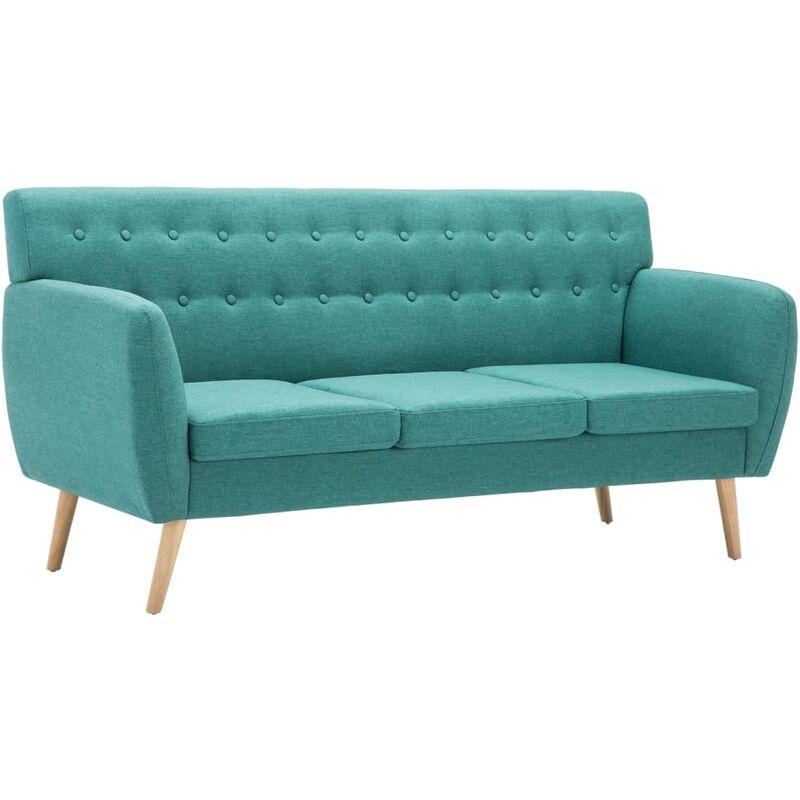 3-Sitzer-Sofa Stoffbezug 172x70x82cm Grün