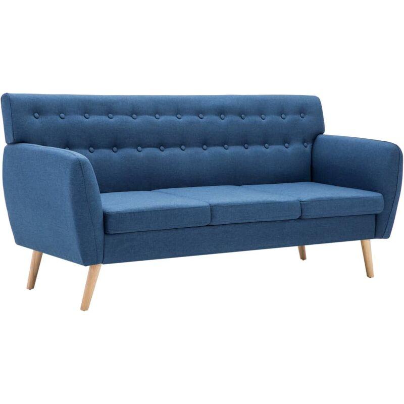 3-Sitzer-Sofa Stoffbezug 172x70x82cm Blau - VIDAXL