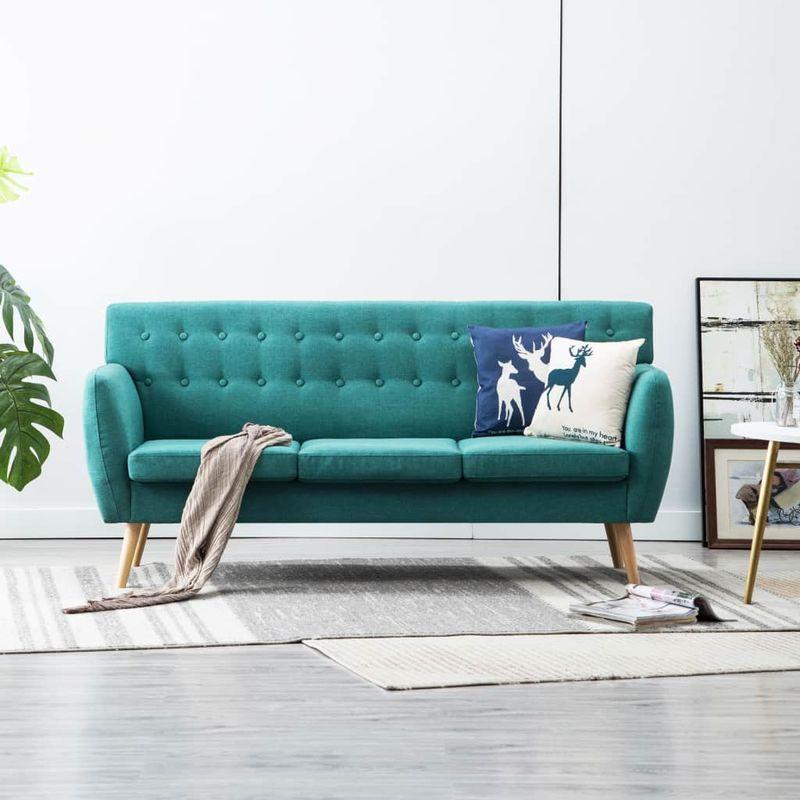 3-Sitzer-Sofa Stoffbezug 172X70X82 Cm Grun