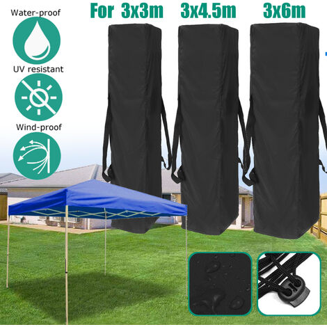 3 Sizes Canopy Tent Gazebo Anti-UV Polyester Waterproof Garden Carry Storage Bag (Gazebo not included) (for 3x4.5m)
