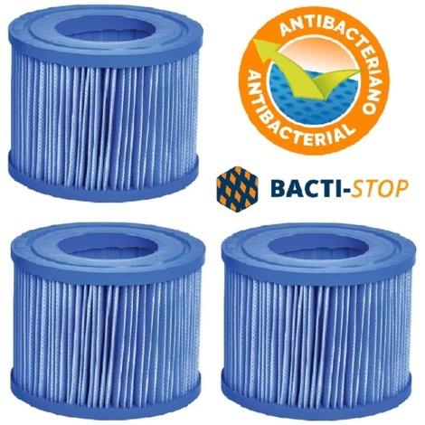 3 Stk Filterkartusche NetSpa Anti-Bakteriell Intex Bestway Whirlpool Filter