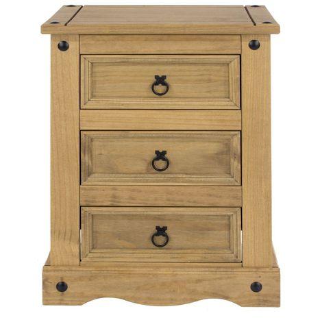 3 Storage Drawer Bedside Cabinet - Modern and Stylish Furniture