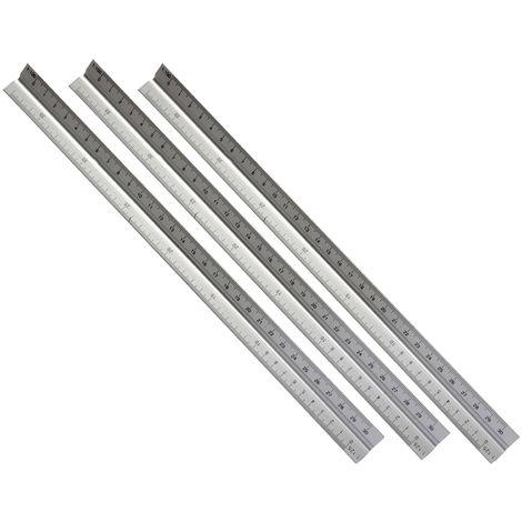 3 Stück Dreikantmaßstab aus Aluminium 300 mm mit 5 Maßstäben 1:20 - 1:125