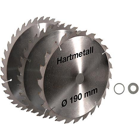 3 Ringe Kreissäge Holz PVC Profi Hartmetall Universal Sägeblatt 40Z 215 x 30mm