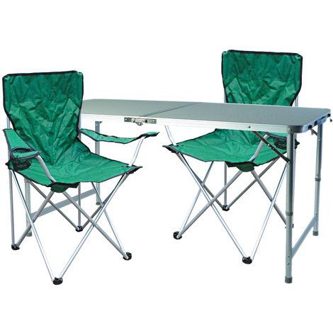 3-teiliges Campingmöbel Set Grün-MMC330872+2xMSP1000