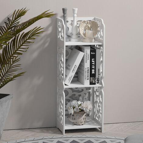 3 Tier Bathroom Storage Bookcase Corner Shelf Unit Stand Storage Rack