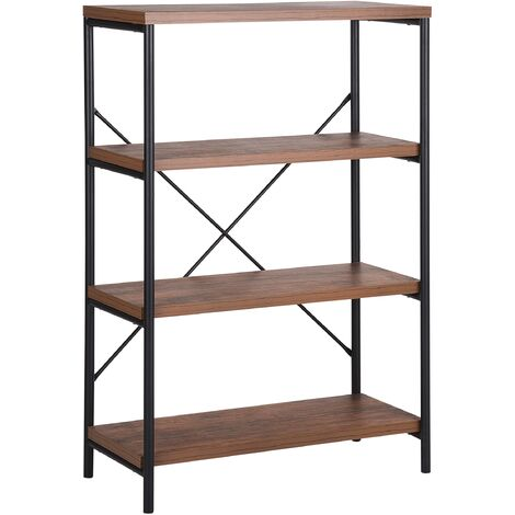 3 Tier Bookcase Dark Wood BRISBANE