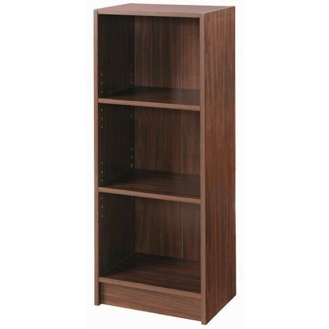 3 Tier Cube Bookcase Display Shelving Storage Unit Wood Furniture Walnut