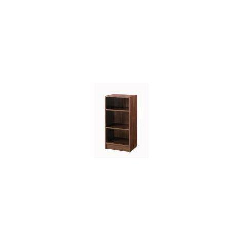 3 Tier Cube Bookcase Display Shelving Storage Unit Wood Furniture Walnut