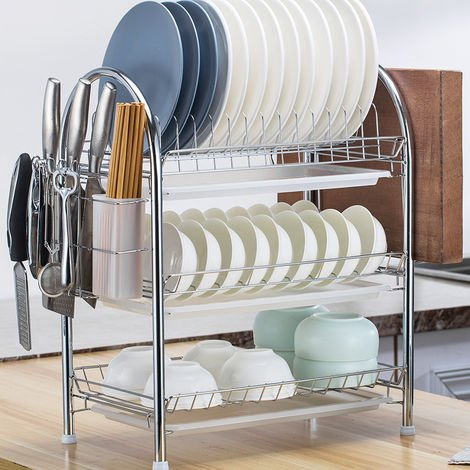 3 Tier Drying Rack Organizer Drainer