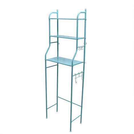 3-Tier Iron Toilet Towel Storage Rack shelf Holder Bathroom Shelf Organizer 160*50*25CM Blue