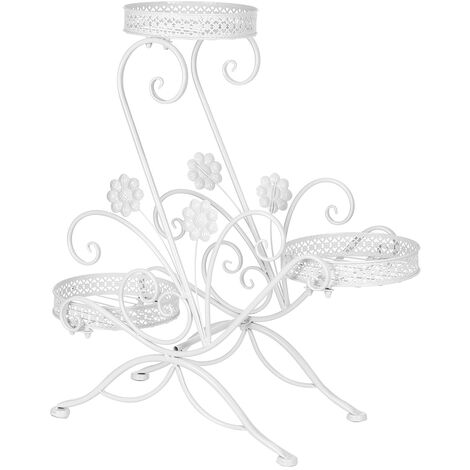 3-Tier Metal Flower Pot Shelf Stand Rack Plants Display Holder