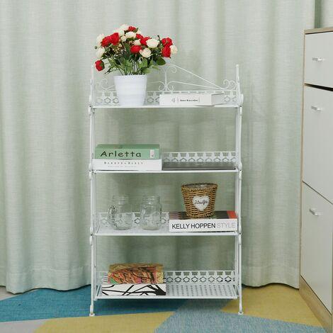 3 Tier Metal Planter Flower Pot Holder Display Rack Storage Shelf Outdoor Rack D