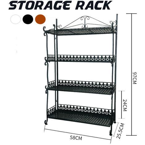 3 Tier Metal Planter Flower Pot Holder Rack Display Stand Storage Shelf Outdoor Rack E