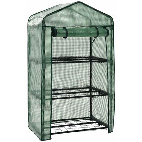 3-Tier Mini Greenhouse 69x49x125 cm