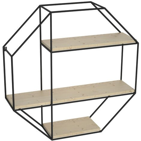 3 Tier Round-shaped Floating Wall Display Shelves Book/DVD Storage