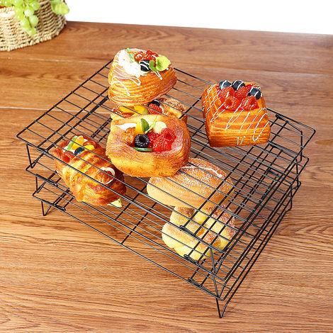 3 Tier Stackable Cooling Cake Biscuit Holder Stacks Nonstick Baking Bakery Hasaki