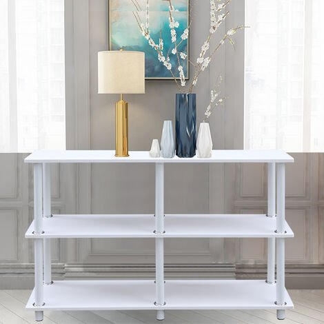 3 Tier Storage Shelf Living Room Hallway Console Table Shelving Stand Bookcase Black