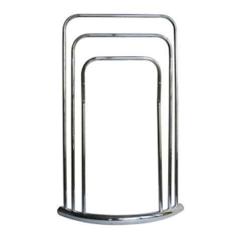 3 Tier Towel Stand - Chrome