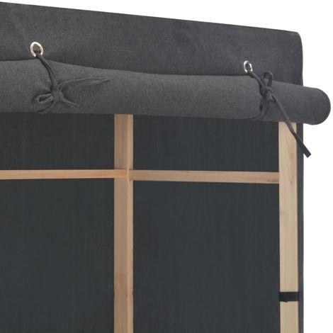 3-Tier Wardrobe Grey 79x40x170 cm Fabric
