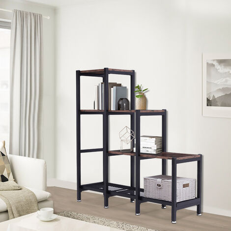 3 Tier Wood Bookcase Storage Shelf Corner Unit Cube Strong Shelving Home Office