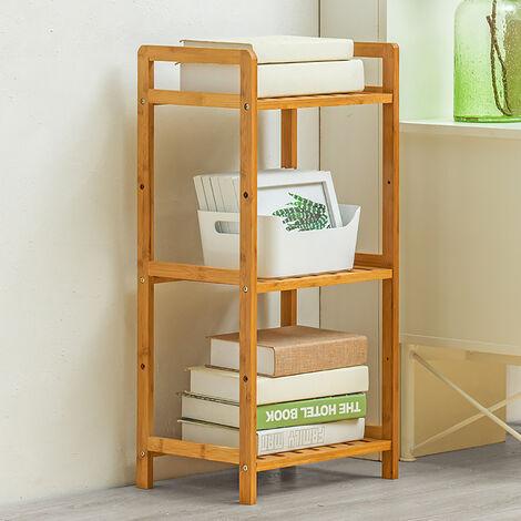 3 Tier Wooden Storage Shelf Bookcase Display Stand