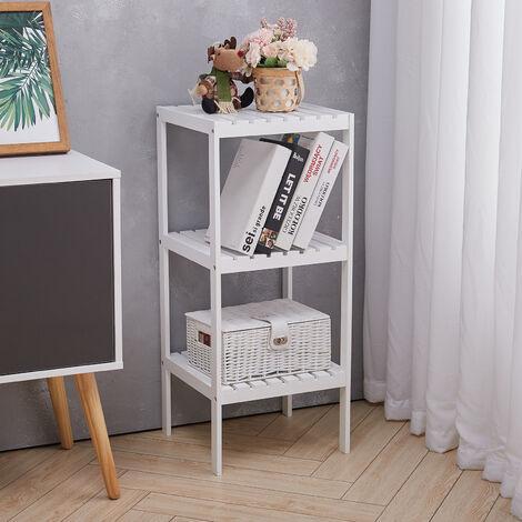 3 Tiers Corner Shelf Unit Storage Bookcase Display Stand Rack Bookshelf Shelving