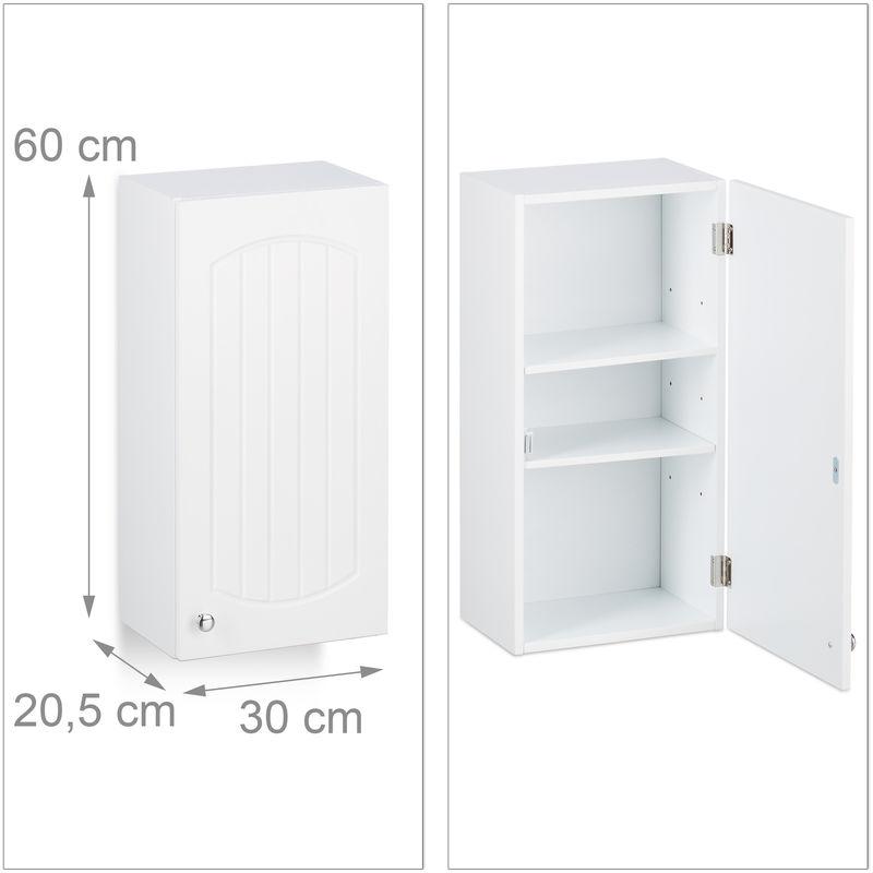 3 tlg. Badschrank Set, Badezimmerschrank Lamellen Design ...