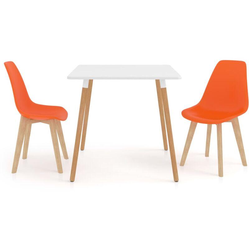 3-tlg. Essgruppe Orange - VIDAXL
