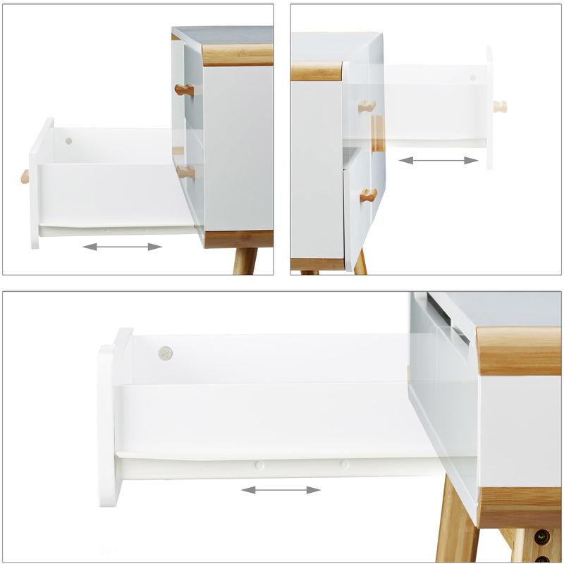 3 tlg. Möbel Set Materialmix, Sideboard 2 Schubladen, Schreibtisch ...